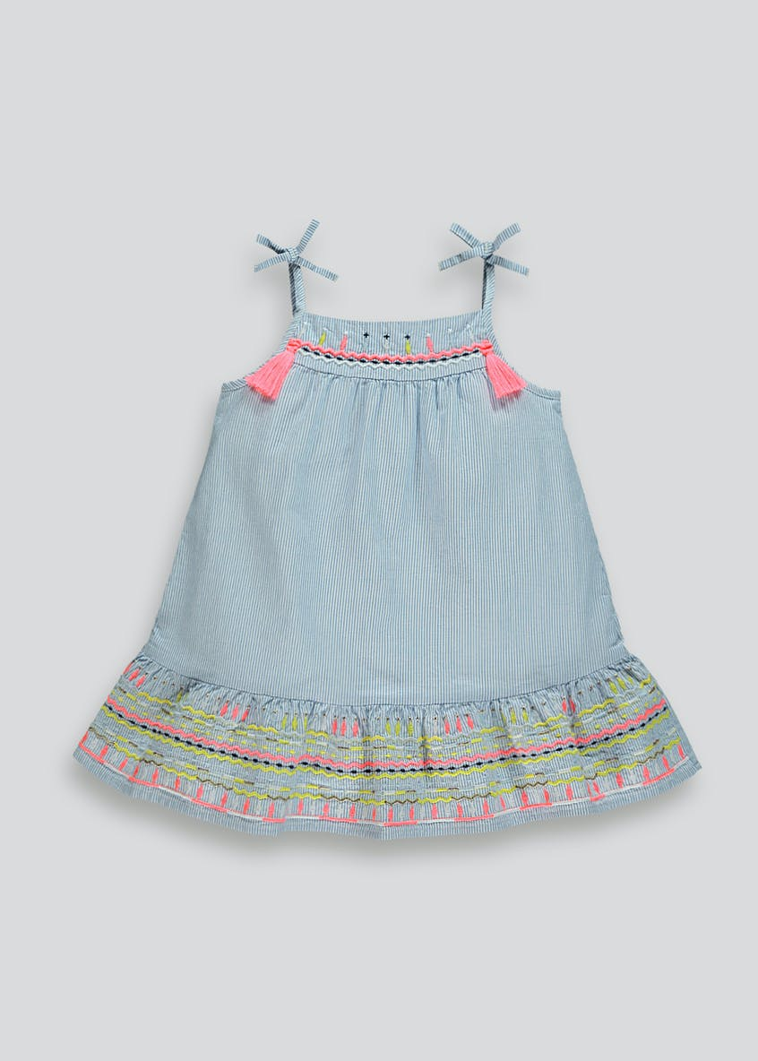 Girls Embroidered Dress (9mths-6yrs)