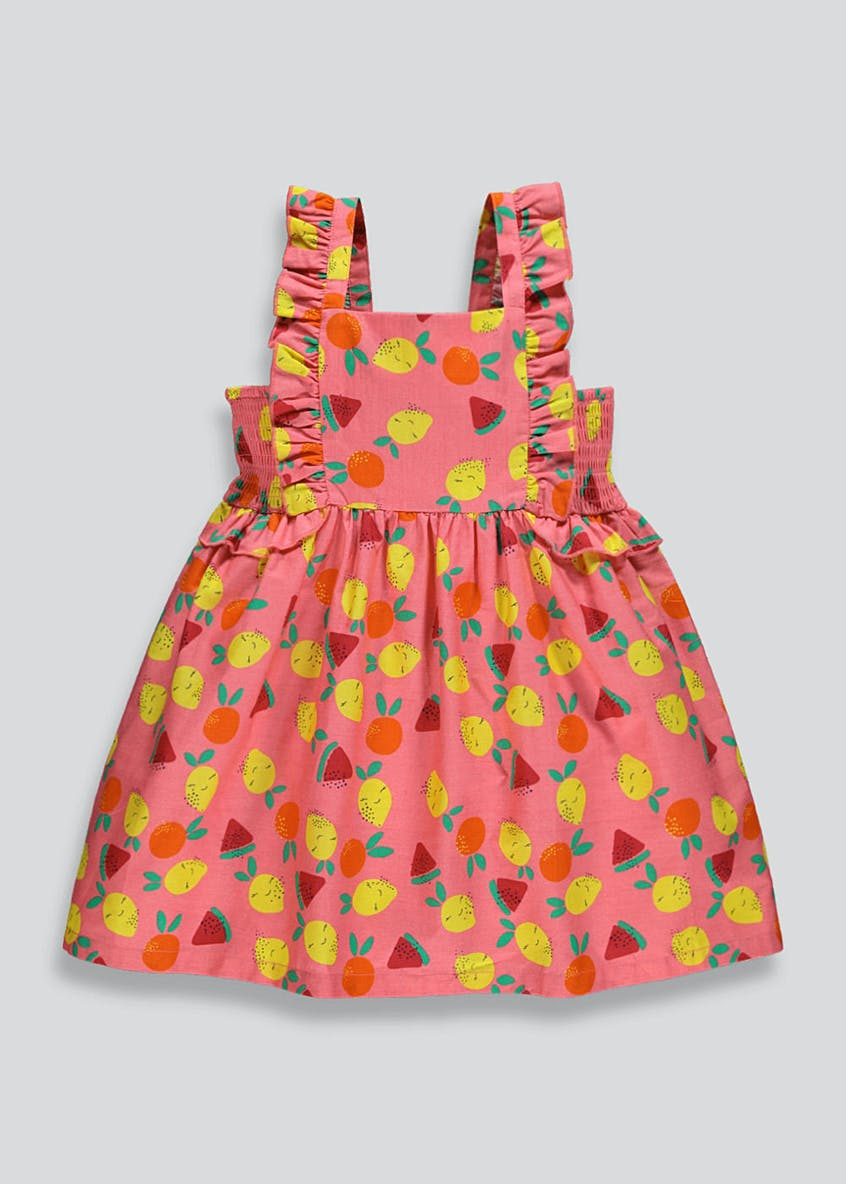 Girls Fruit Print Sun Dress (9mths-6yrs)