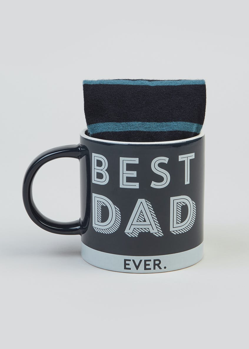 Dad Slogan Mug & Socks Set (12cm x 9cm)