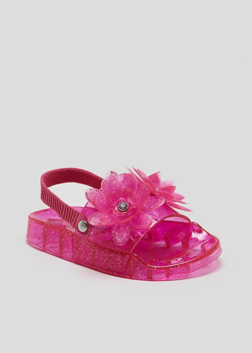 Girls Flower Jelly Sandals (Younger 4-12)