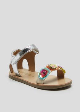 Girls 1st Walkers Flower Sandals (Younger 3-6)