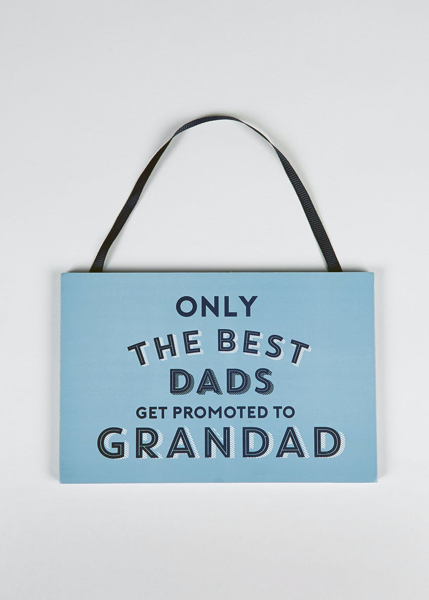 Dad Slogan Hanging Plaque (18cm x 12cm x 1cm)