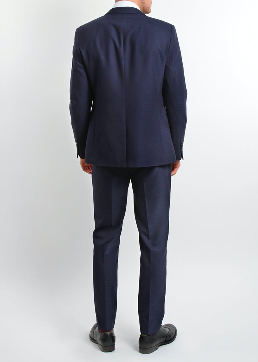 Broken Stitch Greg Slim Fit Textured Suit Jacket