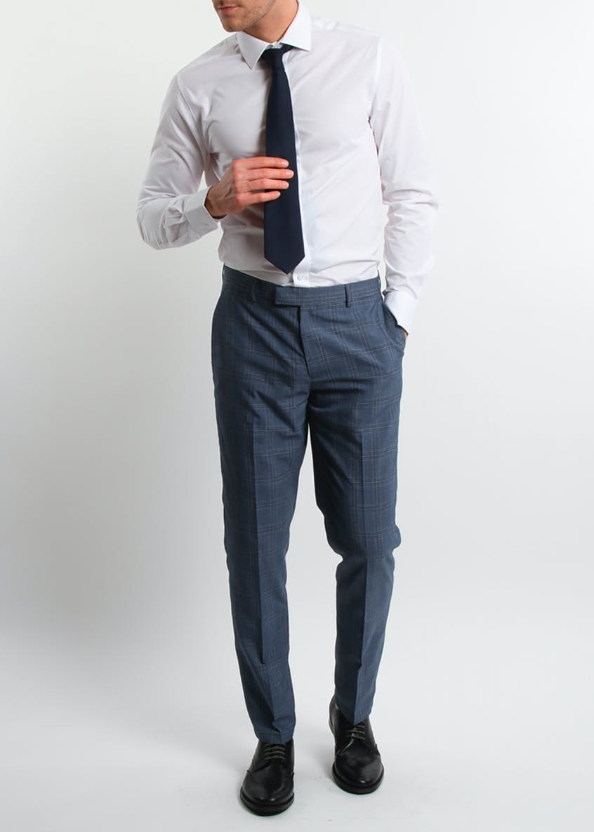 Broken Stitch Bradley Slim Fit Check Suit Trousers