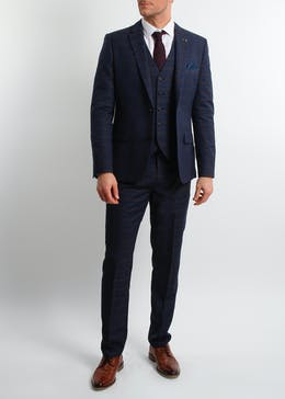 Broken Stitch Charlie Slim Fit Check Suit Jacket