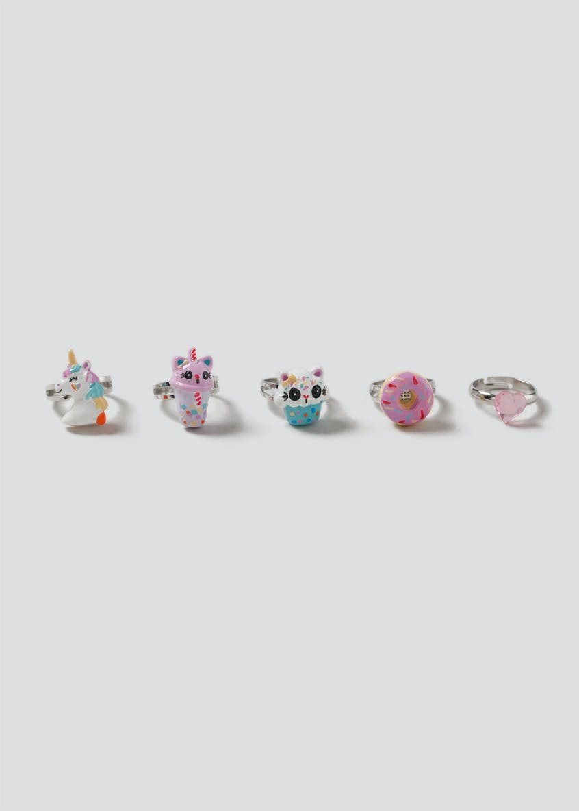 Girls 5 Pack Ring Box