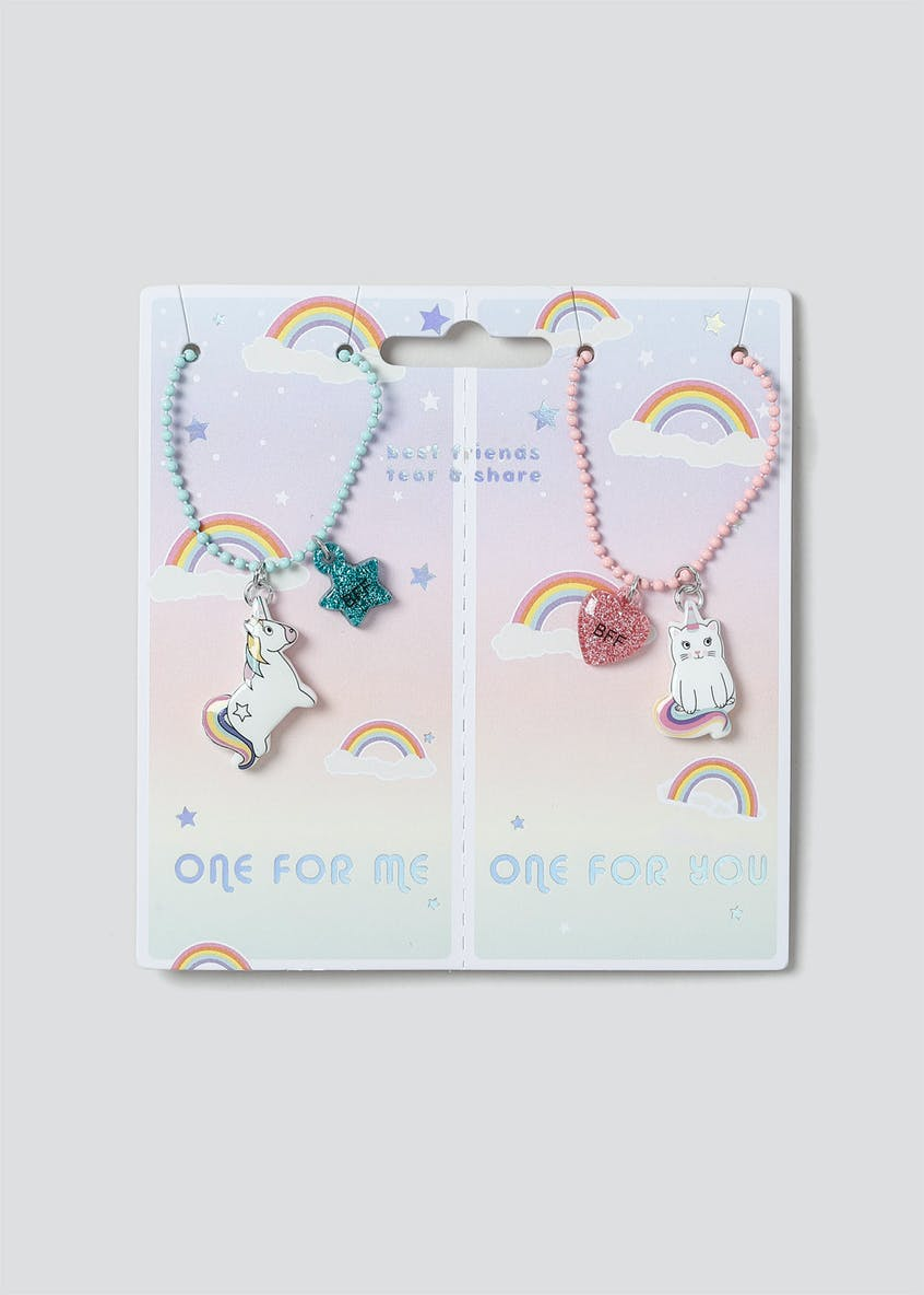 Girls BFF Unicorn Necklace Pack