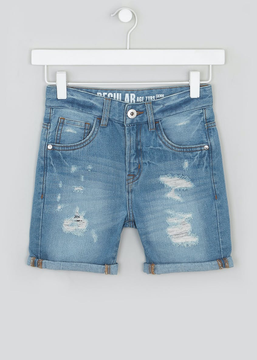 Boys Rip & Repair Denim Shorts (4-13yrs)