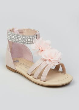 2904fe55e68 Girls Flower   Pearl Occasion Sandals (Younger ...
