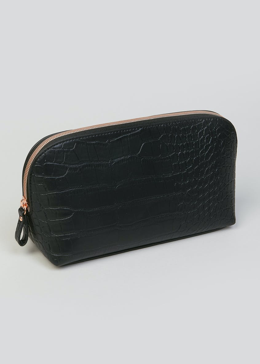 Mock Croc Makeup Bag (18cm x 11cm x 8cm)