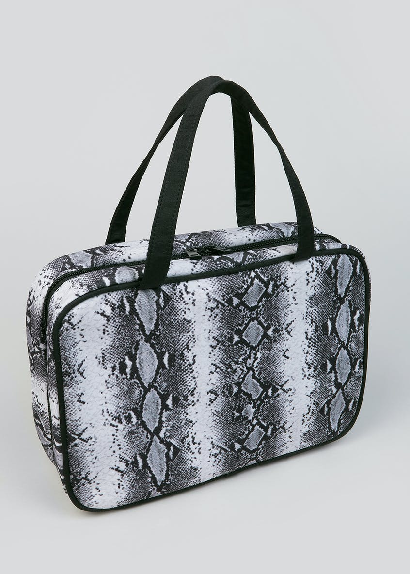 Snake Print Fold out Makeup Bag (29cm x 20cm x 8cm)