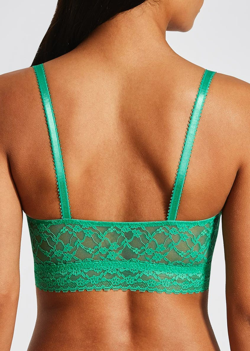 3 Pack Lace Non-Wired Padded Crop Top Bralettes