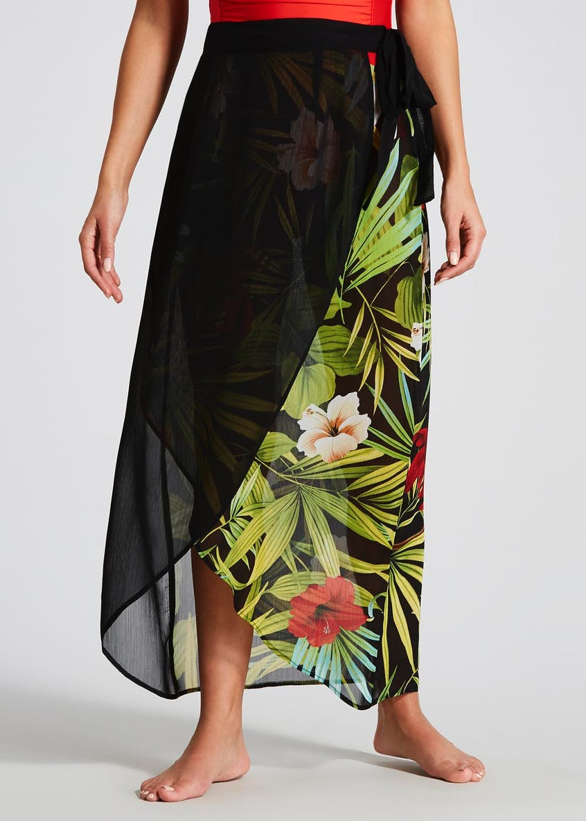 Soon Floral Sarong Beach Skirt