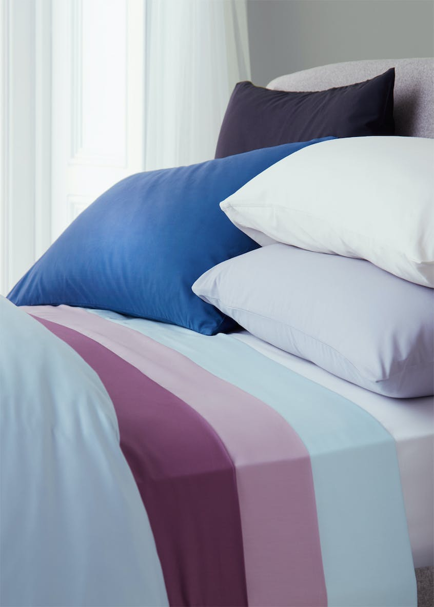 100% Cotton Percale Oxford Pillowcase Pair (200 Thread Count)