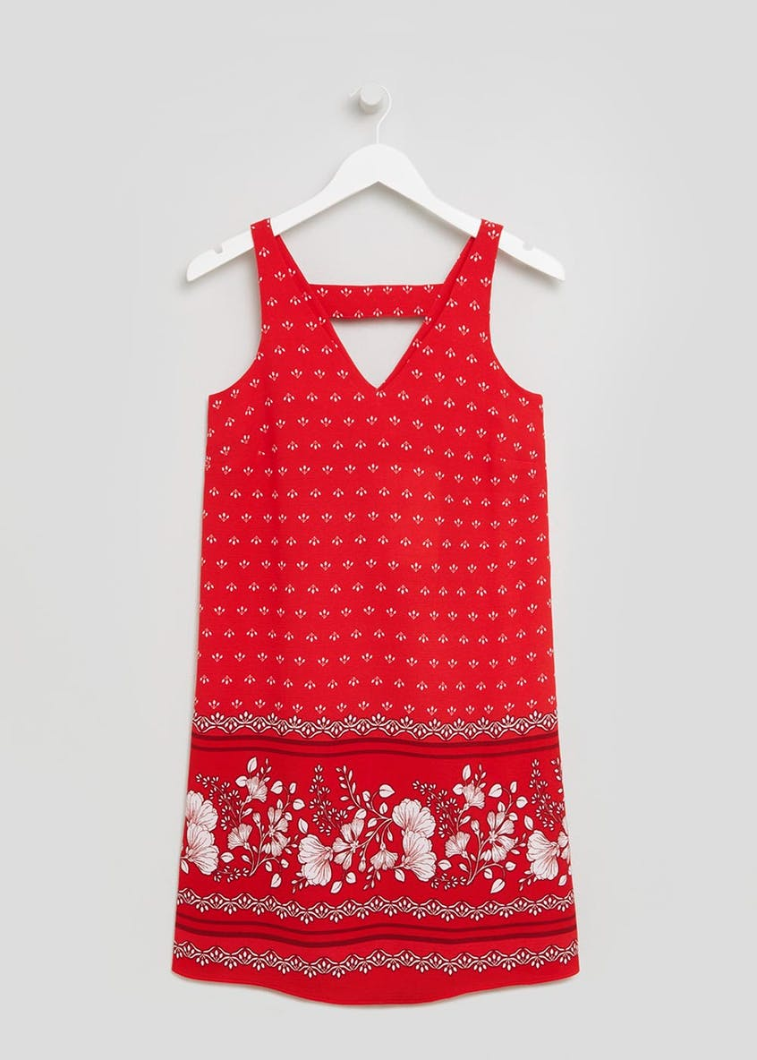 Border Print Cami Dress