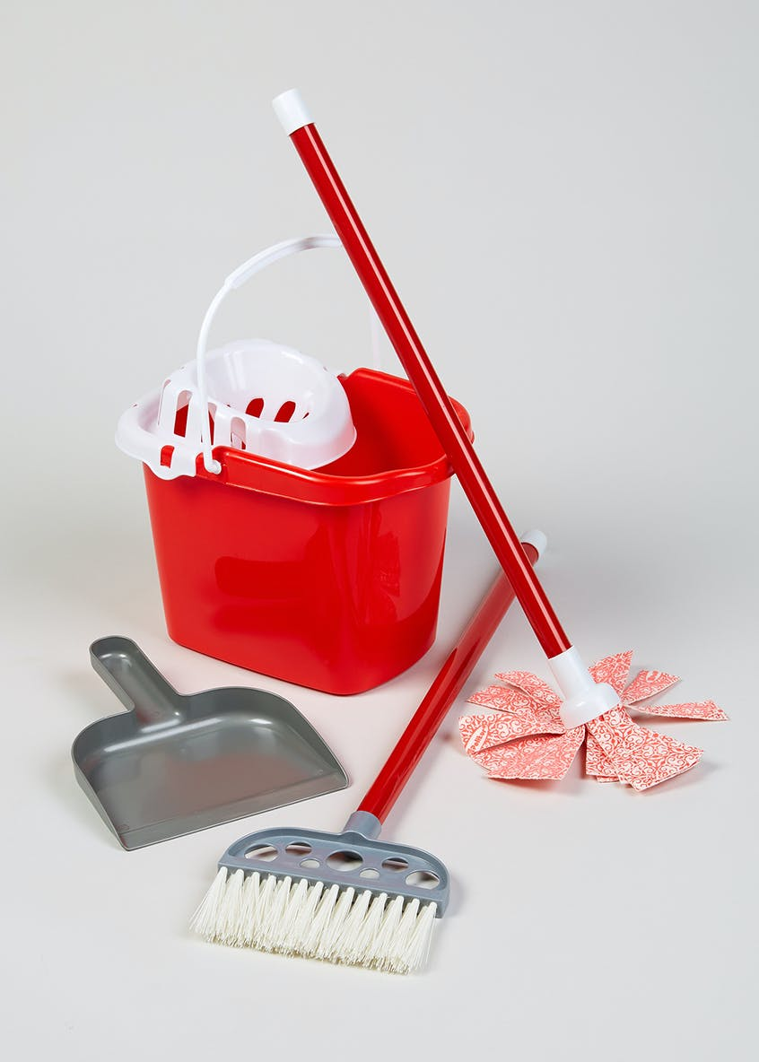 Kids Cleaning Bucket Set (55cm x 19cm x 11cm)