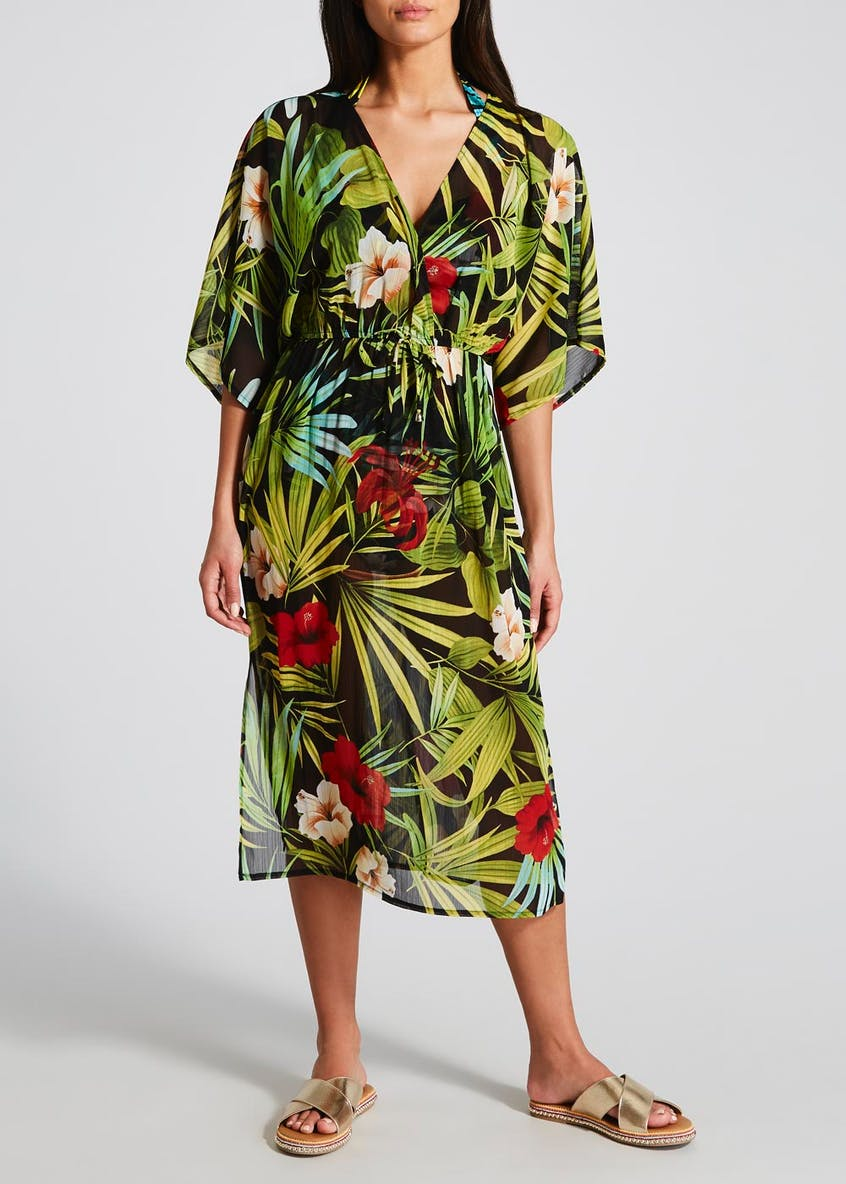 Soon Tropical Floral Kaftan