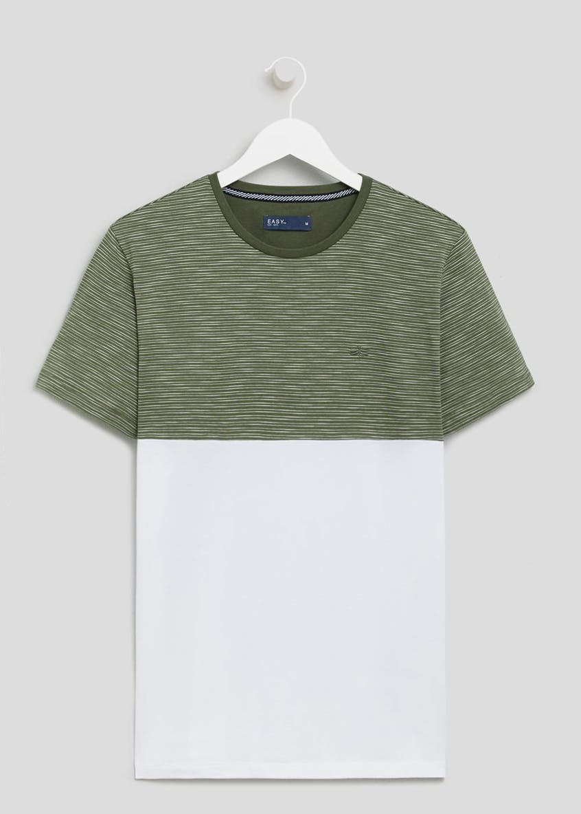 Cut & Sew Panel T-Shirt