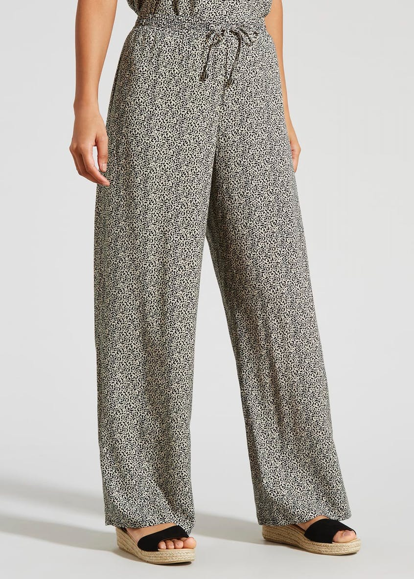 Animal Print Wide Leg Co-Ord Trousers