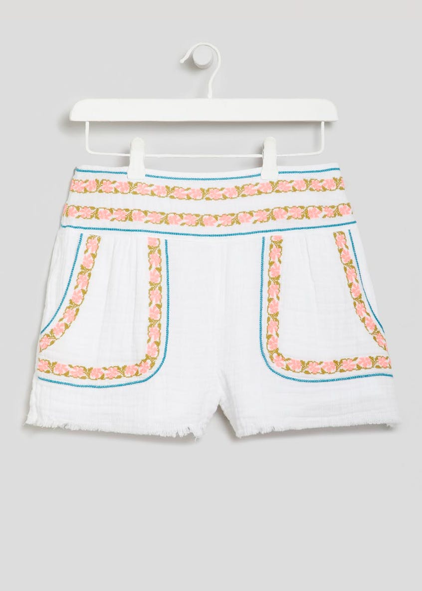 Falmer Cross Stitch Embroidered Co-Ord Shorts