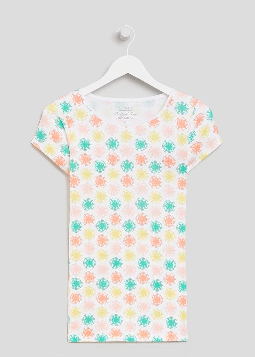 Circle Print Short Sleeve T-Shirt
