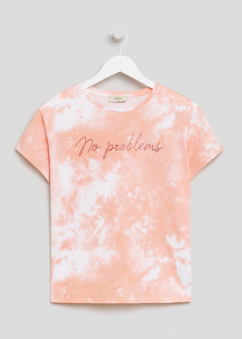 No Problems Slogan Tie Dye T-Shirt