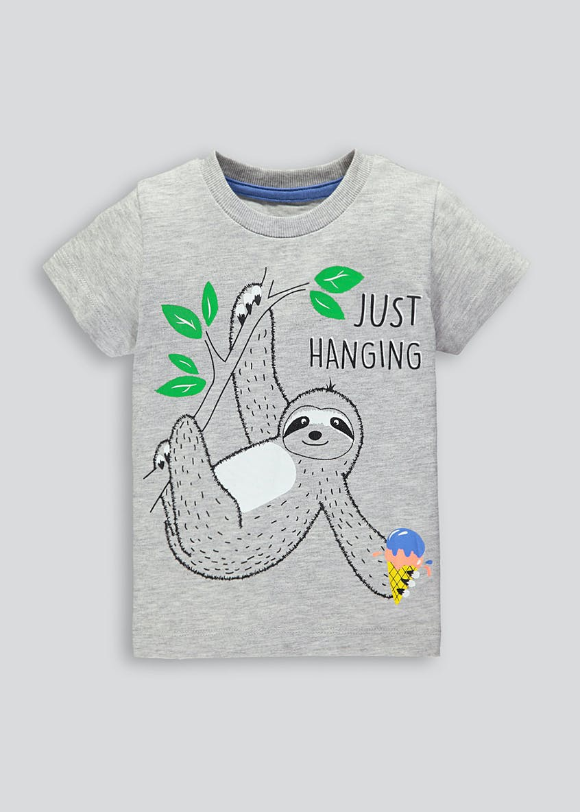 Kids Sloth Slogan T-Shirt (9mths-6yrs)