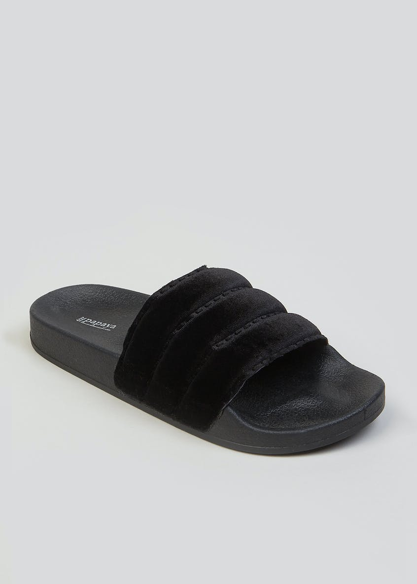 Velvet Quilted Sliders