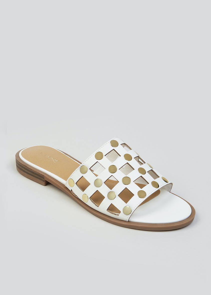 Cage Studded Mule Sandals