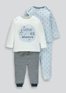 Unisex 2 Pack Top & Bottom Sets (Tiny Baby-12mths)