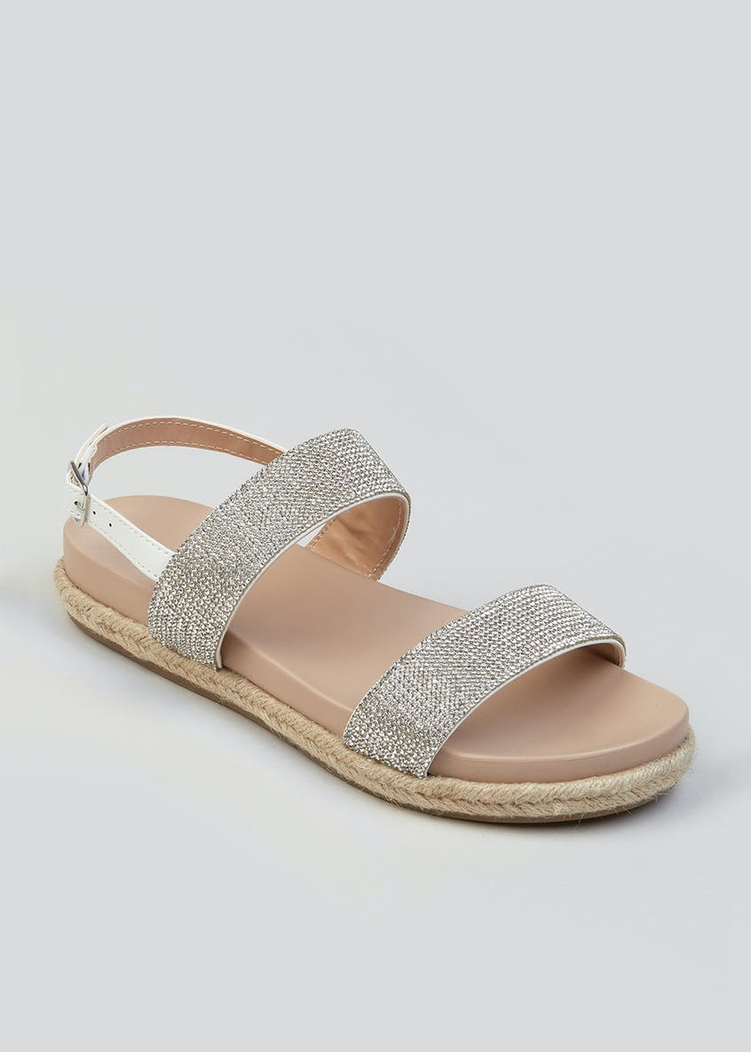 Soleflex Diamante Footbed Sandals