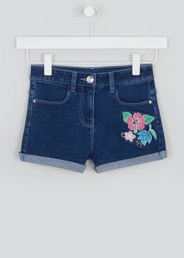 Girls Floral Embroidered Denim Shorts (4-13yrs)