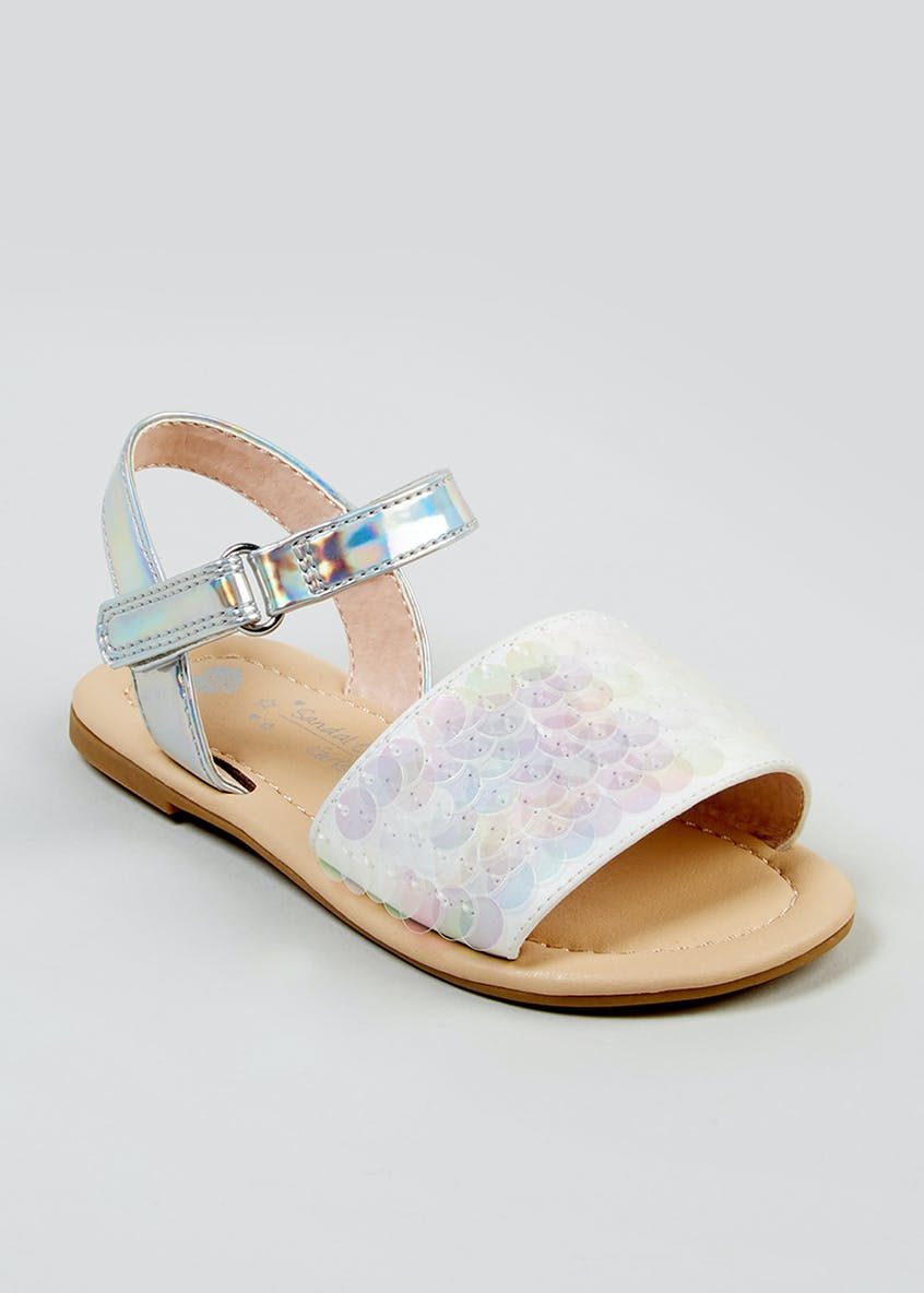 Girls Sequin Sandals (Younger 4-12)