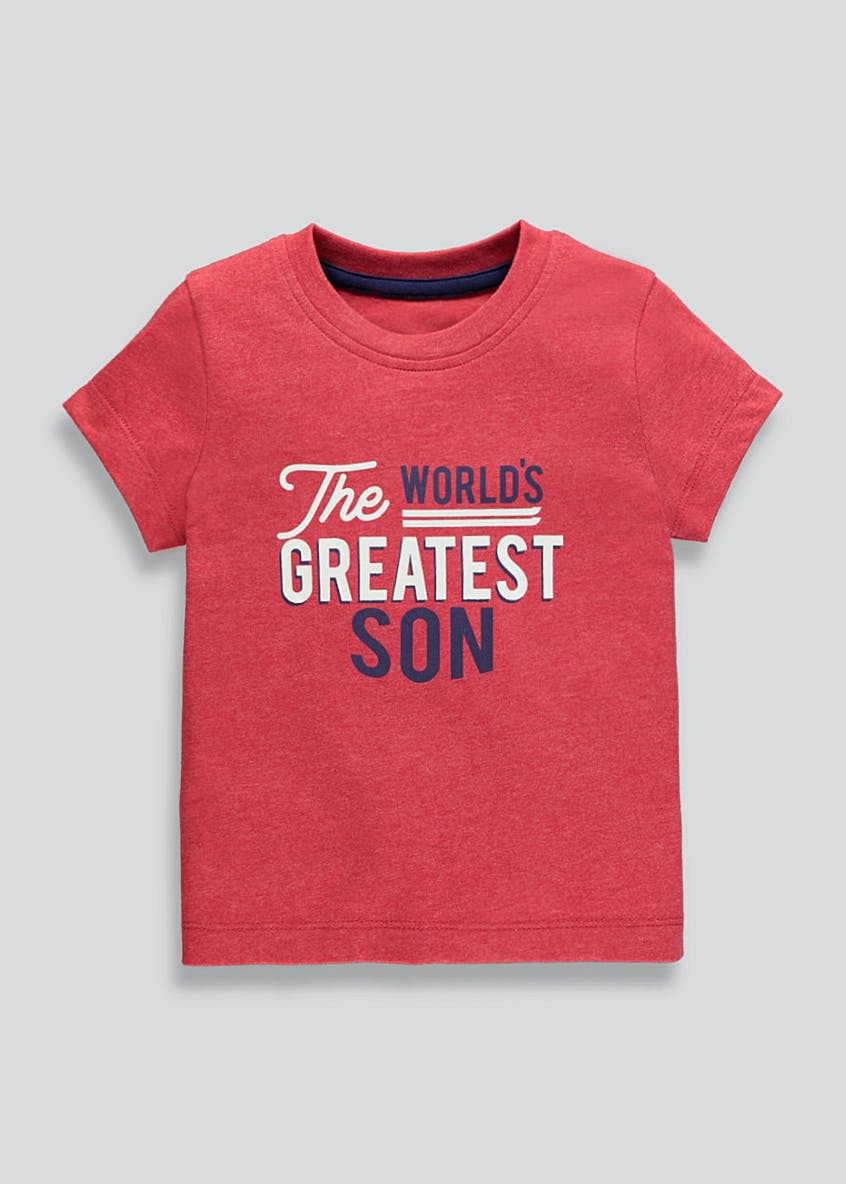 Boys World's Greatest Son Slogan T-Shirt (9mths-4yrs)