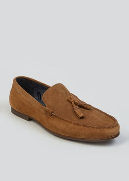 Real Suede Tassel Loafers