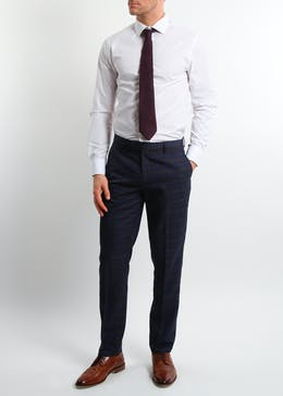 Broken Stitch Charlie Slim Fit Check Suit Trousers