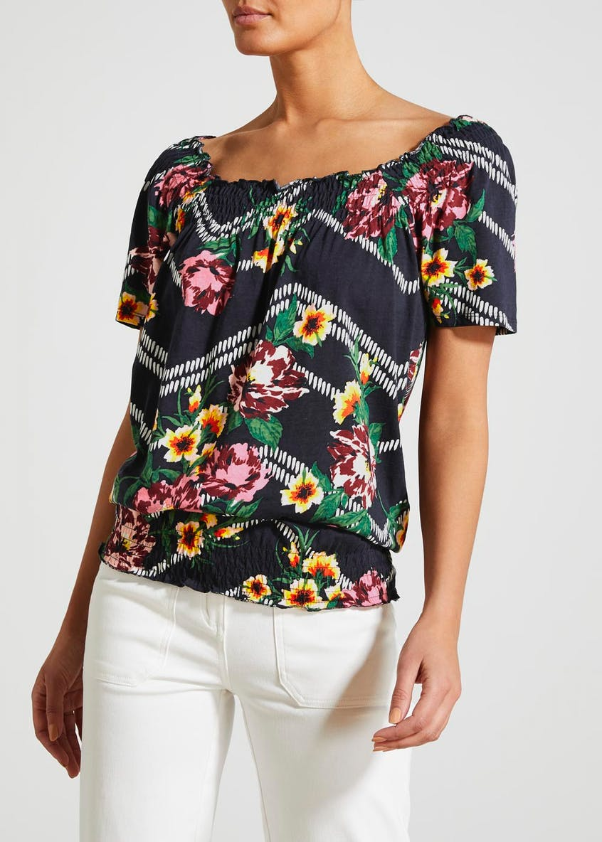 Printed Gypsy Top