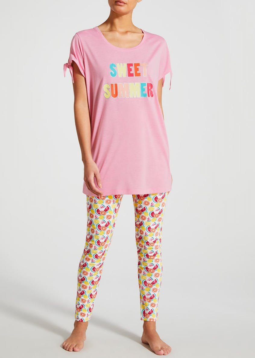 Sweet Summer Slogan Pyjama Set