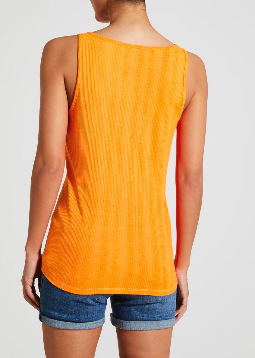 Notch Neck Ribbed Vest