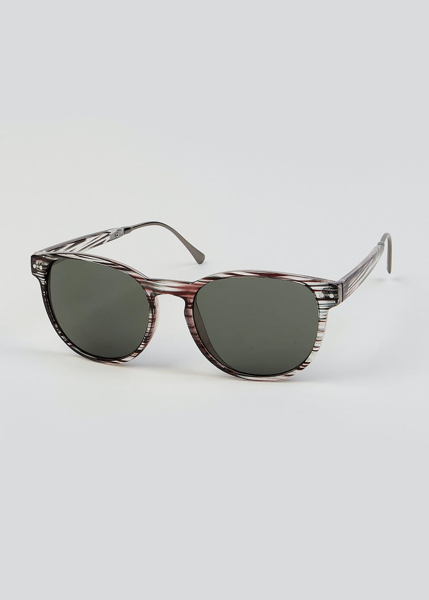 Stripe Retro Sunglasses