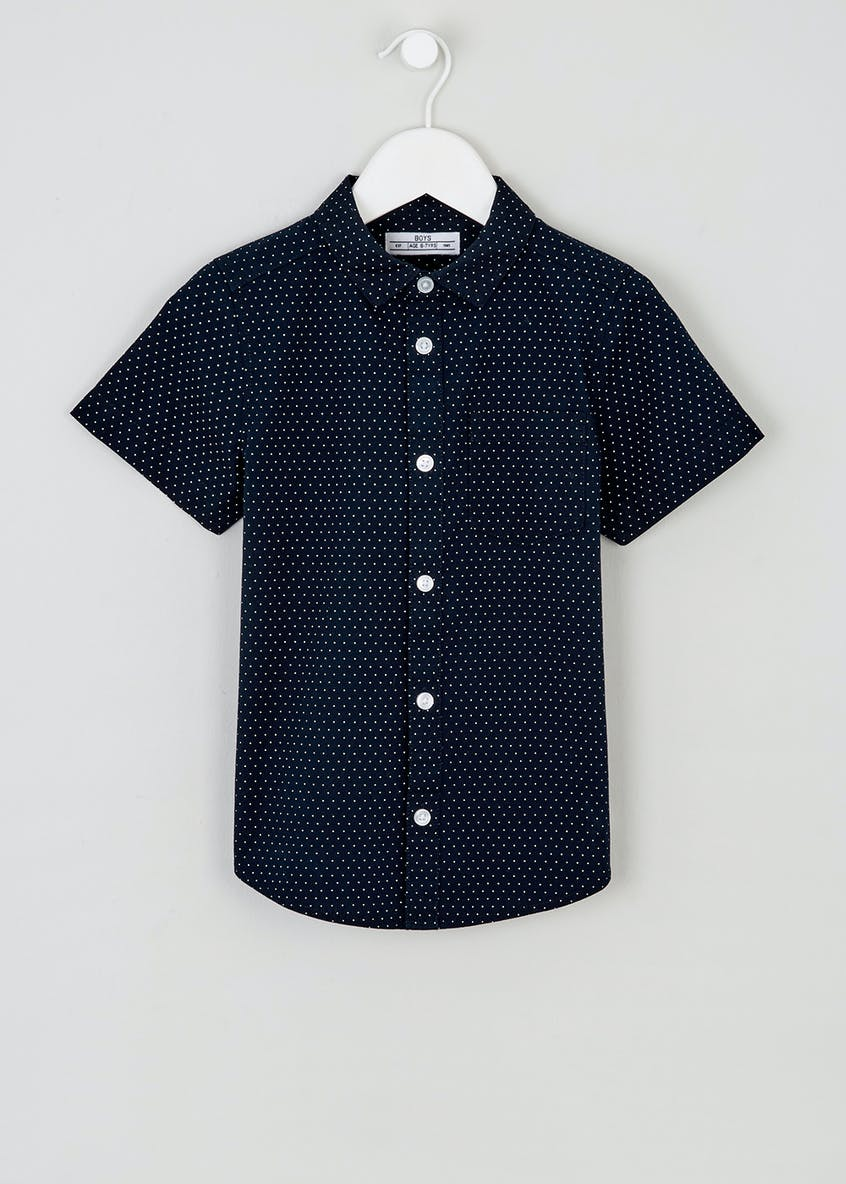 Boys Polka Dot Shirt (4-13yrs)