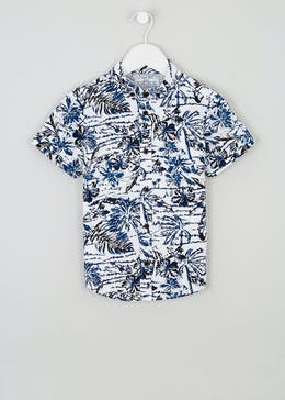 Mini Me Boys Resort Print Shirt (4-13yrs)