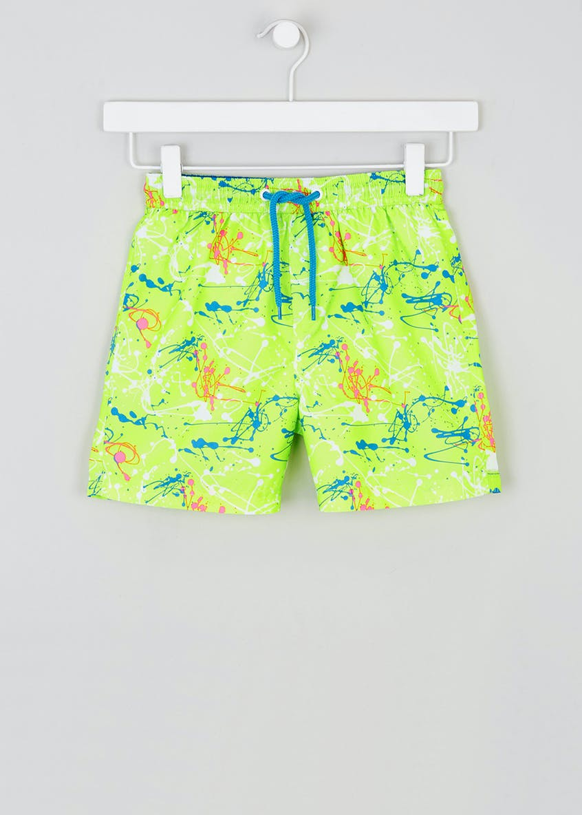 Boys Paint Splatter Swim Shorts (4-13yrs)