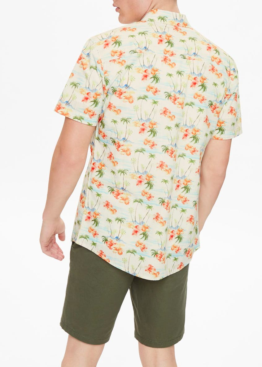 Short Sleeve Island Print Shirt