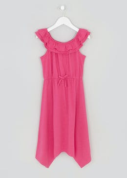 Girls Bardot Hanky Hem Maxi Dress (4-13yrs)