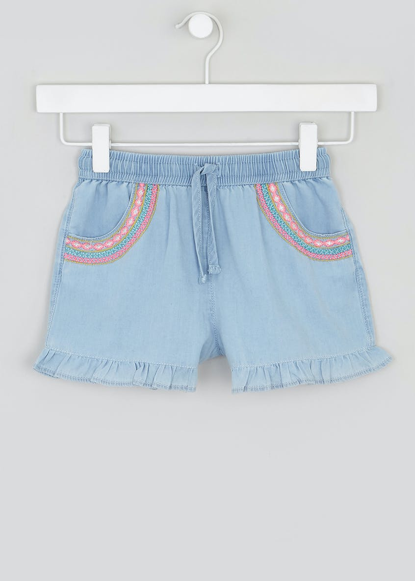 Girls Frill Hem Shorts (4-13yrs)