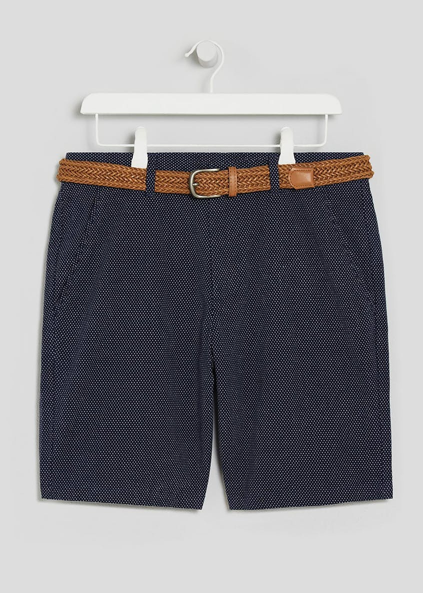 Belted Pindot Shorts