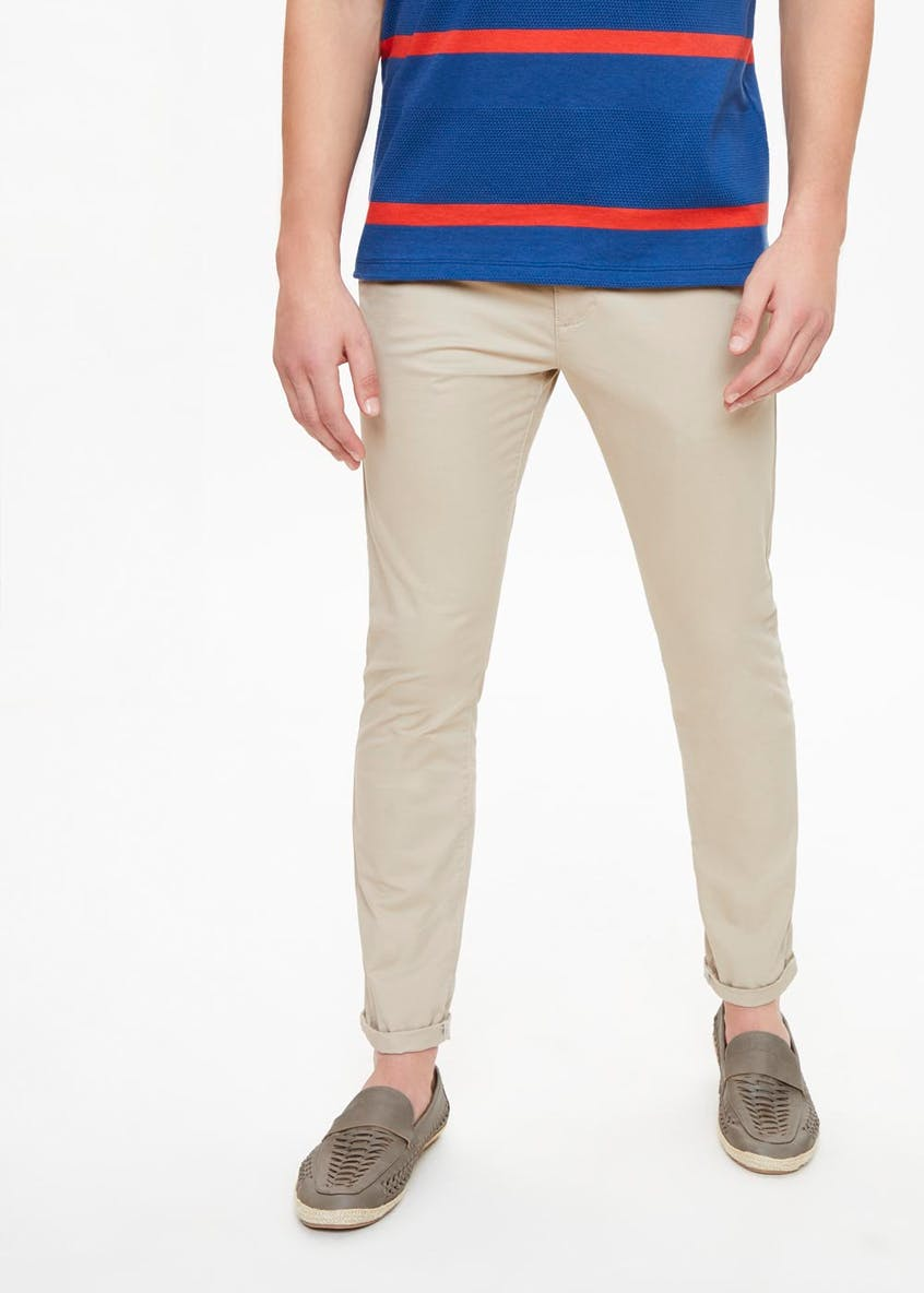 Skinny Fit Stretch Chino Trousers