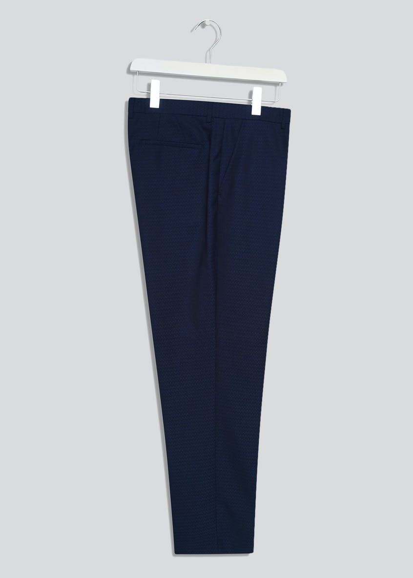 Broken Stitch Greg Slim Fit Textured Suit Trousers