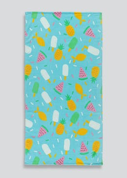 Ice Lolly Print Beach Towel (150cm x 75cm)